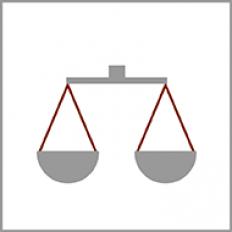 Ikona symbolizująca wymiar sprawiedliwości.