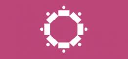 symbol nowego podejścia do e-administracji: ludzie w kole