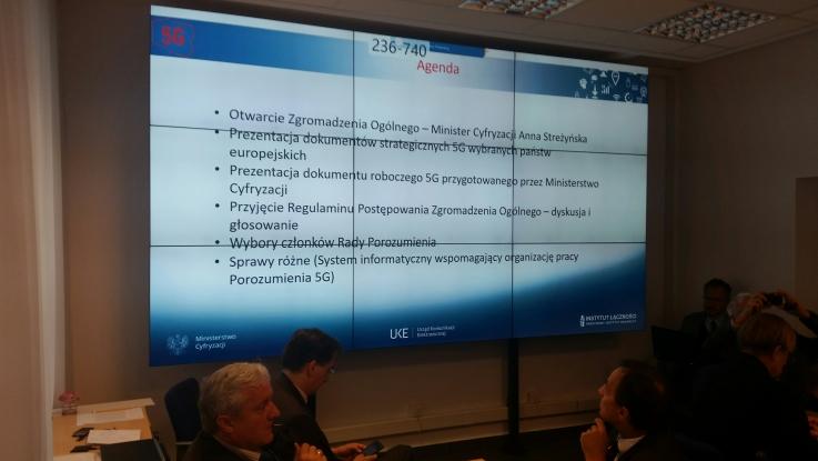 """Pierwsze posiedzenie Zgromadzenia Ogólnego Porozumienia na rzecz Strategii """"5G dla Polski"""""""